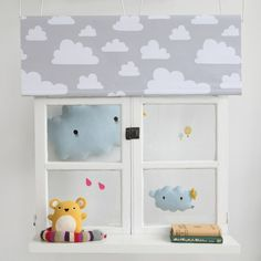 These are kind of clouds we like to see! Giant and small #Ricestorm #Blue #Pillow from #Noodoll available in grey, white and black online. #FargForm #GreyCloud #RollerBlind. Noodoll #RiceCracker #SoftToy, Up and Away #Wallstickers by #LoveMae and #Knitted #Toy #Snake. #ThisModernLife