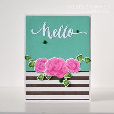 Clean and Simple card. Stamps: Altenew  #cleanandsimple #card  #cardmaking #stamping #altenew