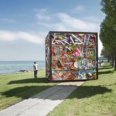 James Dive's latest work Once, on display at Denmark's Aarhus Bay for the Sculpture by the Sea event, is the sum total of a traditional style amusement park, complete with dodgem cars, waltzers and test-your-skills stalls all in one very compact space...
