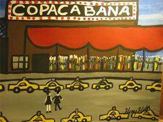 HENRY HILL GOODFELLA'S ORIGINAL PAINTING COPACABANA NIGHT CLUB