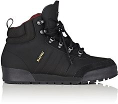 Chilly weather boots for guys has great style, adidas Men's Jake 2.0 Nubuck Boots-BLACK