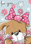 Cachorrinho com flor