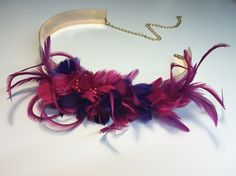 Cinturones con plumas by @martabonaque
