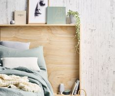 This DIY plywood bedhead is a clever and stylish storage solution for small bedrooms | Story: Real Living