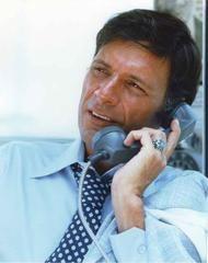 Ron Leibman Talking with Telephone Premium Art Print