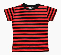 Calvin Red/orange  & Black Stripe Thin Tee costume halloween