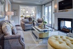 molding between rooms in archway. Living Rooms | Family Rooms | Jane Lockhart Interior Design
