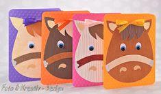 **Süße Einladungskarte für den nächsten Kindergeburtstag.** Sie erhalten 4 Karten in verschiedenen Farben. Hergestellt aus Strukturpapier, geprägten Kartenkarton 160g , 3-D Pads, Halbperlen und...