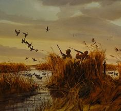 Into the Wind, duck hunting painting by Brett J Smith, brettsmith.com