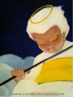 Art studio glimpse: #Painting through #Caroline_Bergonzi's eyes…  Ref: Oil Paint.