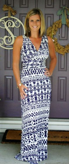 Stitch Fix Market & Spruce Persia Maxi Dress - great maxi dress and print!