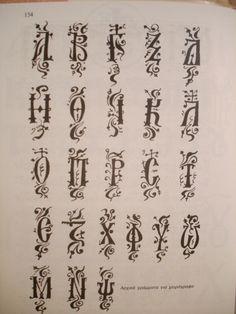 Greek Alphabet.