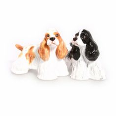 American Cocker Spaniel Hand Crafted Salt & Pepper Shakers by Blue Witch. $34.95. Hand Painted. Porcelain. American Cocker Spaniel Hand Crafted Salt & Pepper Shakers. Save 13%!