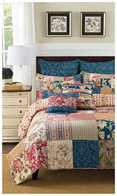 The Brunswick quilt is a beautiful patchwork quilt showcasing an array of colorful and texturally interesting patterns. Home Bedroom, Bedroom Decor, Bedrooms, Bedding Shop, Quilt Bedding, Big Block Quilts, Twin Quilt, Quilt Sets, Square Quilt
