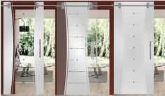 A sliding glass barn door separates rooms from each other, provides privacy and is space-saving. Annoying door slamming is a thing of the past, as this sliding door runs over smooth-running rollers. The door is easy to install, durable and robust. Sliding Glass Barn Doors, Glass Door, Installation Manual, Safety Glass, Double Doors, Rollers, Separates, Glass Panels