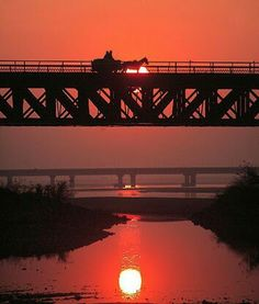 More than100 years old bridge on river Jhelum, Punjab, Pakistan.