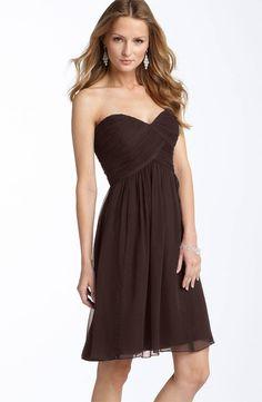 Donna Morgan Strapless Silk Chiffon Dress - $99.90