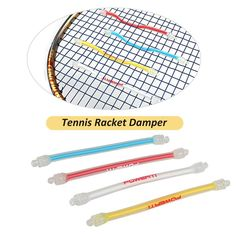 Both ends are equipped with a hook to hook on the racket lines, not easy to lose, preventing dropping. 1 Piece of Tennis Damper. Made of high-elasticity silicone material, apparently reduces vibration. Tennis Shop, Tennis Bag, Tennis Racket, Tennis Tournaments, Tennis Players, How To Play Tennis, Tennis Accessories, Racquet Sports, A Hook