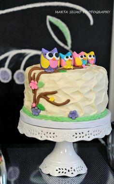 Cute owl cake #owl #cake