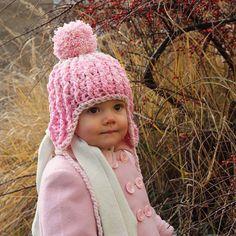 Komplet růžové háčkované čepičky a rukaviček – Caramilla Winter Hats, Crochet Hats, Fashion, Knitting Hats, Moda, Fashion Styles, Fashion Illustrations