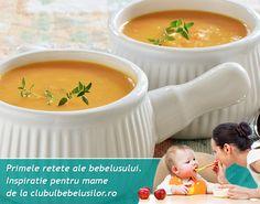Supa de cartofi dulci este foarte sanatoasa. O reteta delicioasa pentru bebelusi de la varsta de 7-8 luni. Cheeseburger Chowder, Soup, Tips, Baby, Soups, Newborn Babies, Infant, Baby Baby, Doll