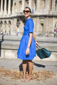 Natalie Joos in Blue- retro summer chic