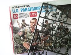 Vintage WWll Toy Soldier US Paratroopers 82 by Blakenetizen, $25.00