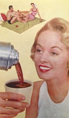hollyhocksandtulips:  Nescafe, 1955