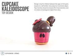 Cupcake Kaleidoscope. Toy Design by Rishwa Baxi