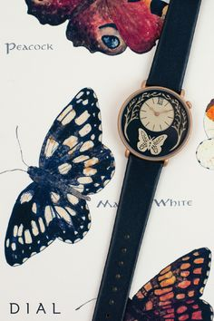 Inspired by the beauty of the floating butterfly, Sarah Dennis has designed the ethereal Butterfly Watch in collaboration with Dial Watches.