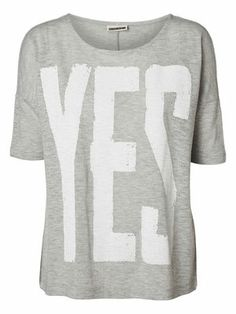 @Veronica MODA #Graphic #grey TRINE 2/4 TOP MIX - NM, Light Grey Melange, main