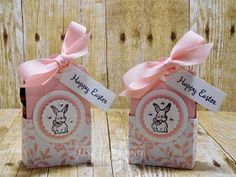 Easter bunny bag youtube easter pinterest easter bunny stampin up a good day stamp set scalloped tag topper punch easter negle Gallery