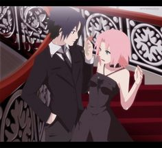 Sakura and Sasuke (honestly not a big fan of them to together.. But i do like this picture)