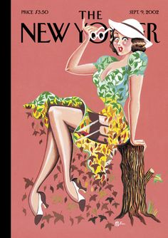 "The New Yorker - Monday, September 9, 2002 - Issue # 3997 - Vol. 78 - N° 26 - « Style Special » - Cover ""Fall Fashion"" by Michael Roberts"