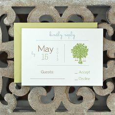 Wedding Invitations / Wedding Invitation  - Tree Swing Invite