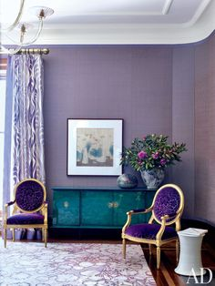 Jamie Drake Decorates an Upper West Side Apartment in Purple