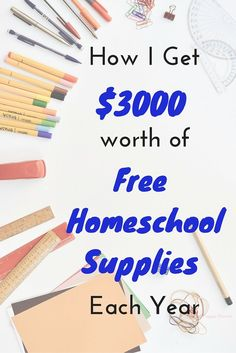 How I Get almost $3000 worth of homeschool supplies and curriculum for free. Wow this girl knows how to get some extras for her house. This is awesome! I do some of this already but I never thought of implementing it as a homeschool budget.