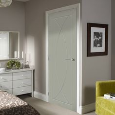 Pre-finished Pesaro Flush Door - Choose Your Colour - Lifestyle Image.    #contemporarydoor #moderndoor