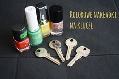 Kolorowe nakładki na klucze #DIY