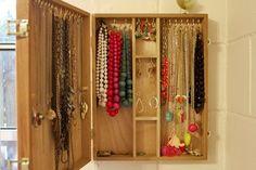 DIY jewelry box.