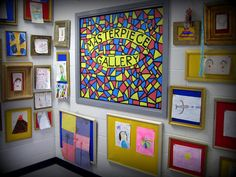 Cassie Stephens: In the Art Room: The Masterpiece Gallery-- For all those sweet little gifts from students!