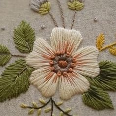 Hand Embroidery Patterns Flowers, Hand Embroidery Projects, Basic Embroidery Stitches, Embroidery Stitches Tutorial, Embroidery Flowers Pattern, Creative Embroidery, Simple Embroidery, Hand Embroidery Designs, Embroidery Motifs