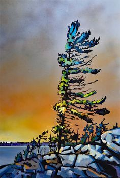 The Lonely Lighthouse. Available for rent or sale at the Art Gallery of Hamilton. Canadian Painters, Canadian Artists, Acrylic Painting Techniques, Art Techniques, Abstract Landscape, Landscape Paintings, Landscapes, Art Gallery Of Hamilton, Sculpture