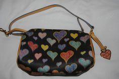 BNWOT Dooney & Bourke mini barrel handbag with crayon hearts pattern    eBay