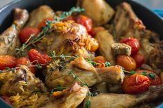 Baked Chicken and Orzo | http://maya-kitchenette.com/baked-chicken-orzo/