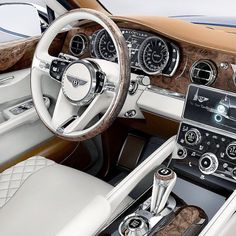 """meandmybentley: """"The Bentley Bentayga will undoubtedly redefine the SUV category. In the eyes of Bentley, the Bentayga is not just supremely capable in any terrain or environment, it is also the epitome of exceptional comfort and build quality. Bentley Auto, Bentley Motors, Bentley 2017, Bugatti, Maserati, Bentley Continental Gt, Volkswagen, Car Interior Design, Bentley Interior"""