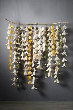 Nursery decor idea - only with paper origami  flowers!  Bhldn-wedding-decor-beach-bride-flowers.original