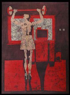 Katarzyna Wolicka, batik, 2005  #art #batik #wax