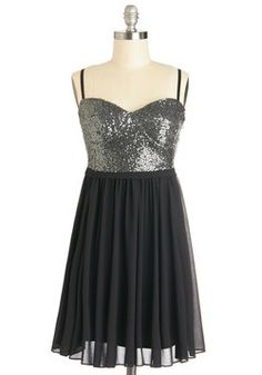 Scene and Sequins Dress, #ModCloth  *With a black sweater/jacket/blazer over it & HOT heels