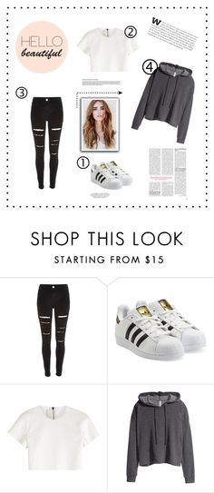 """""""How to wear Adidas"""" by navvvvyygirl ❤ liked on Polyvore featuring River Island, adidas Originals, Neil Barrett and H&M"""